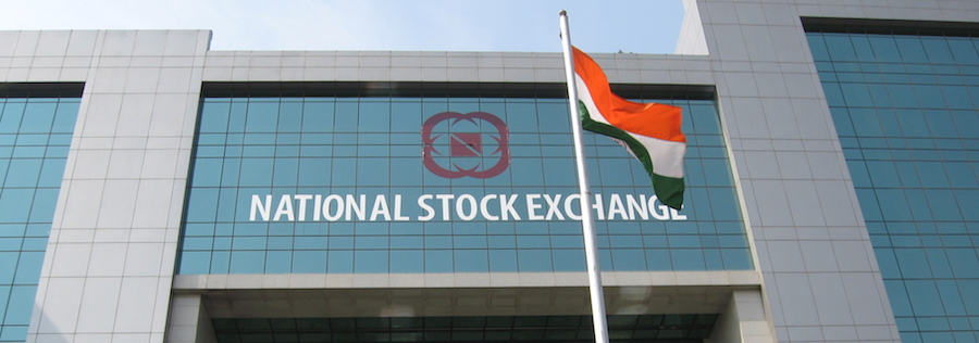Indian nation stock exchange front of building